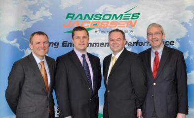 l-r David Withers, President of Jacobsen; Rupert Price, Sales director, Ransomes Jacobsen; Jason King, Customer Care director, Ransomes Jacobsen; and Alan Prickett, Managing director, Ransomes Jacobsen Asia Pacific region